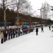 На лыжной трассе ДОСААФовцы