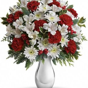 Silver-And-Snowflakes-Bouquet