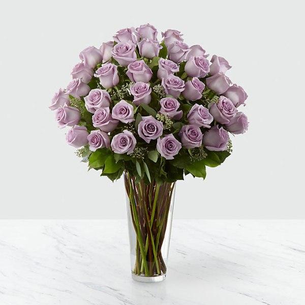36 Long Stem Lavender Roses
