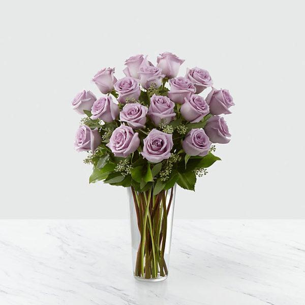 18 Long Stem Lavender Roses