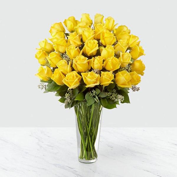 36 Long Stem Yellow Roses