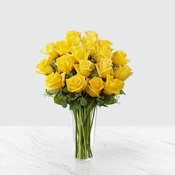 18 Long Stem Yellow Roses