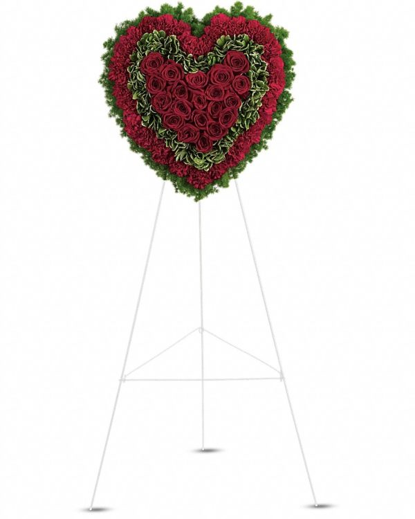 Majestic Heart Flower Stand Yara Flowers
