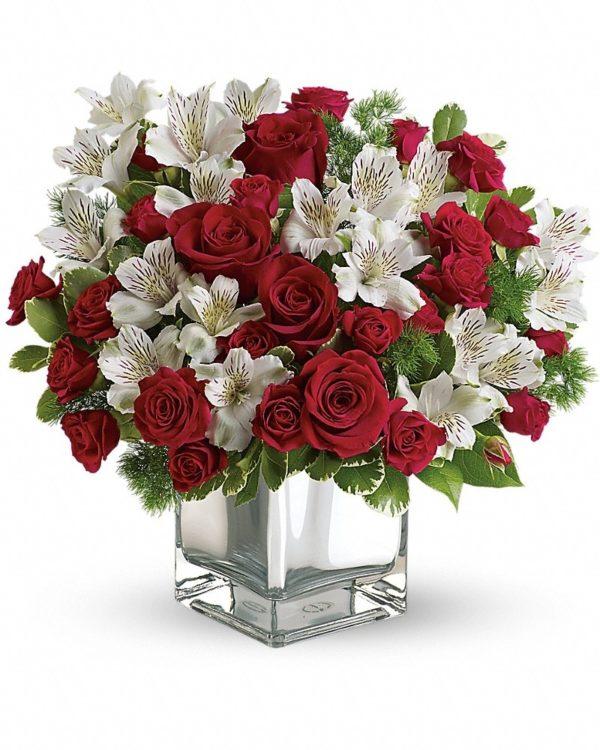 Christmas Blush Bouquet Yara Flowers