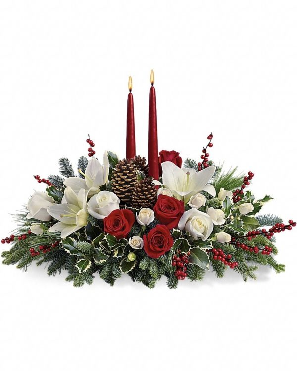 Christmas Wishes Centerpiece Bouquet Yara Flowers