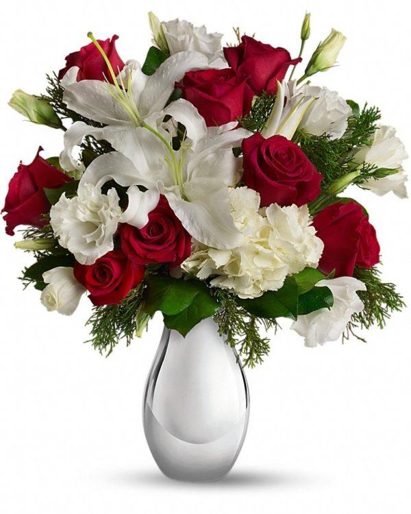 Silver Noel Bouquet Yara Flowers