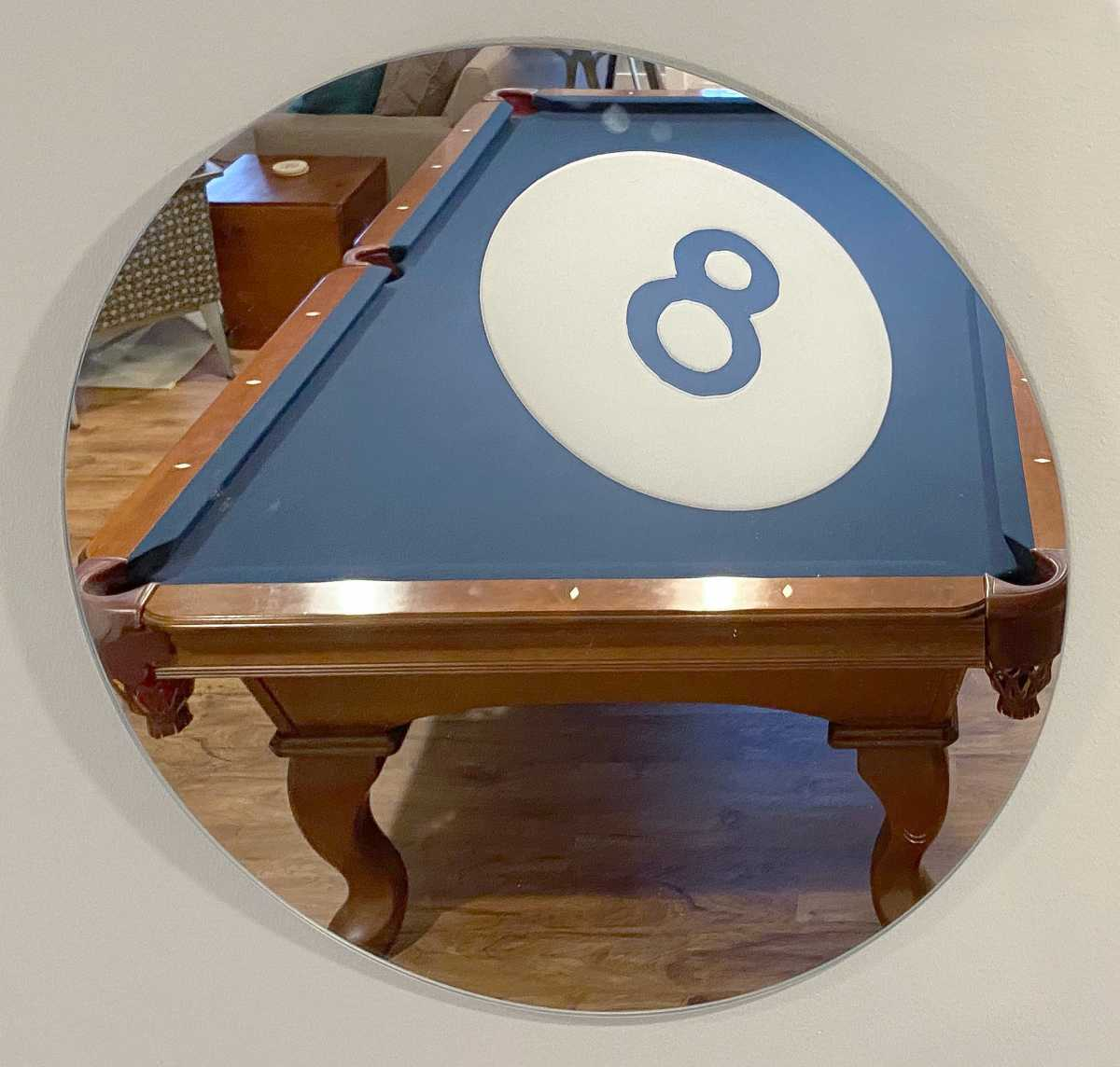 8 Ball Wall Mirror by Yarbough Design
