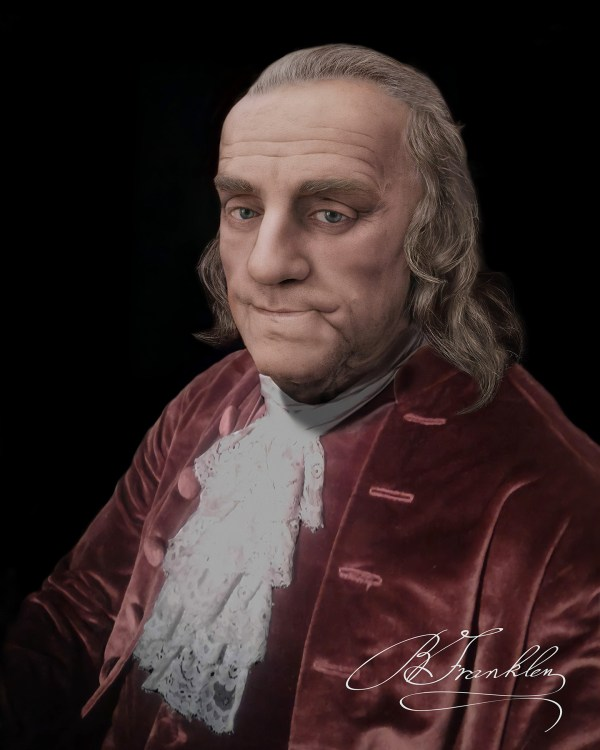 Benjamin Franklin Reconstruction of the Jean-Jacques Caffieri Bust