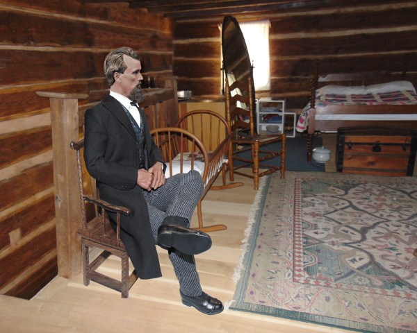 Nathan Bedford Forrest Sitting in the upstairs room of his boyhood home Print