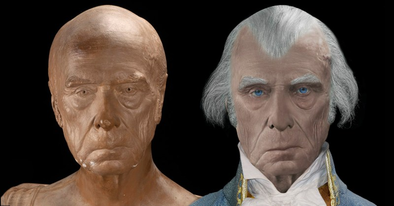 James Madison Real Face Life Mask