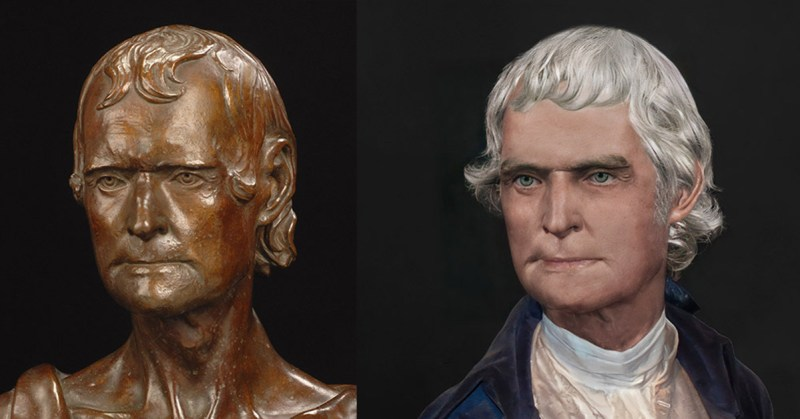 Life Mask Before and After Thomas Jefferson