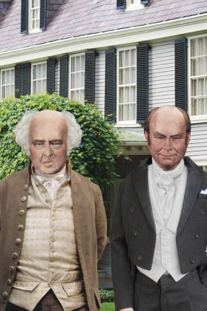 John Adams with John Quincy Adams at Peacefield in 1825