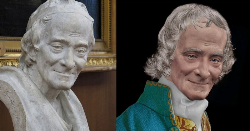 Life Mask Facial Reconstruction of Houdon's life mask of Voltaire