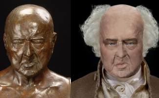 The Life Mask Face of John Adams – A Photoshop Reconstruction