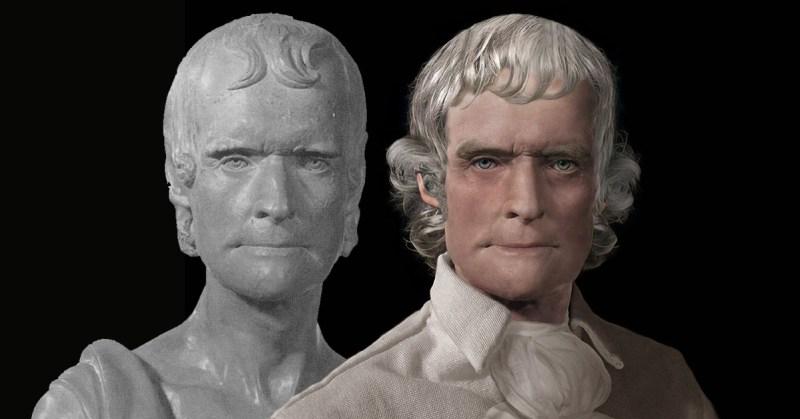 Thomas Jefferson Real Face Life Mask Reconstruction