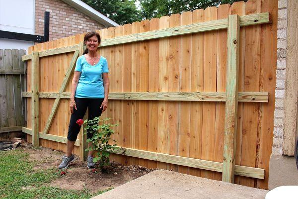Building a Cedar Fence Gate