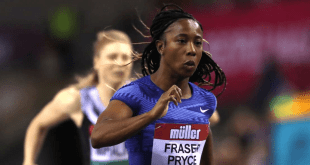 Shelly-Ann Fraser Pryce Wins Indoor 60 m Race in Glasgow