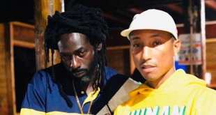 Buju Banton and Pharrell Williams in Jamaica Recording New Music