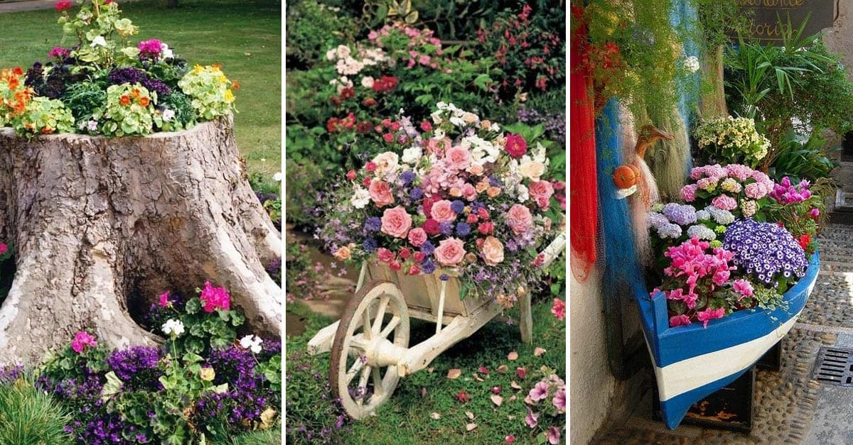 15 Ways To Decorate Your Garden With Recycled Materials  YARD SURFER