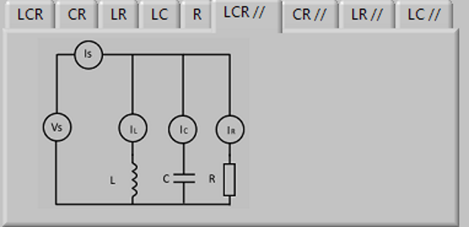 Impedance simulator for practical exercises on LCR circuits