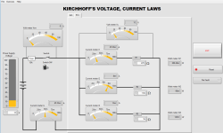 Kirchhoff's Voltage Current Laws Simulator