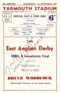 The 1st East Anglian Greyhound derby racecard
