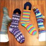 hand knit socks Friday night feet