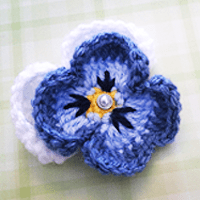 Pansy Flower Crochet Pattern