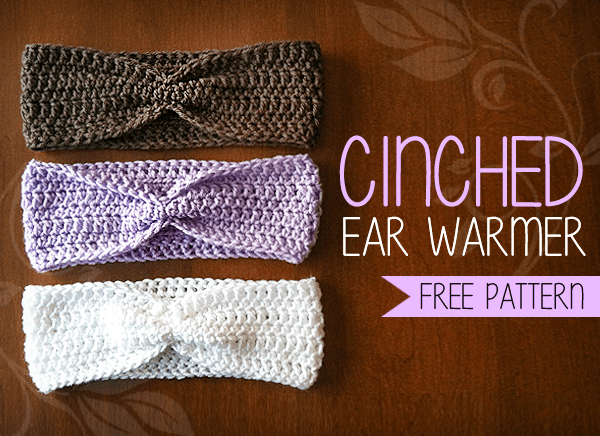 Cinched Ear Warmer Free Ear Warmer Headband Crochet Pattern By