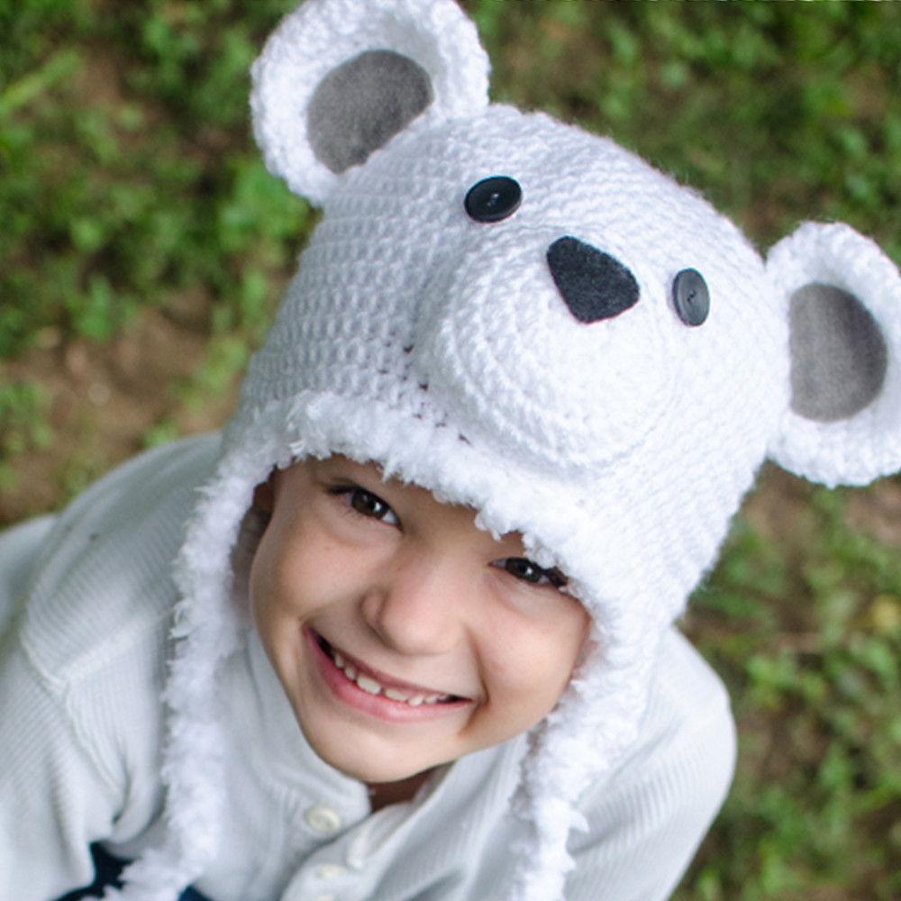 Polar Bear Hat (6-12m)
