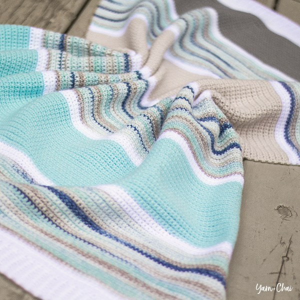 Summer Boardwalk Baby Blanket