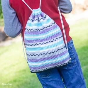 Zigzag Bag | Backpack Cinch Bag Crochet Pattern by Yarn + Chai