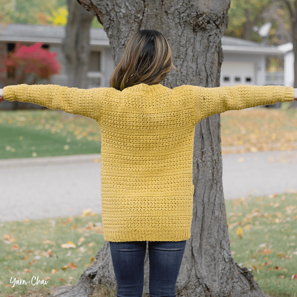 Harvest Cardigan Crochet Pattern - back