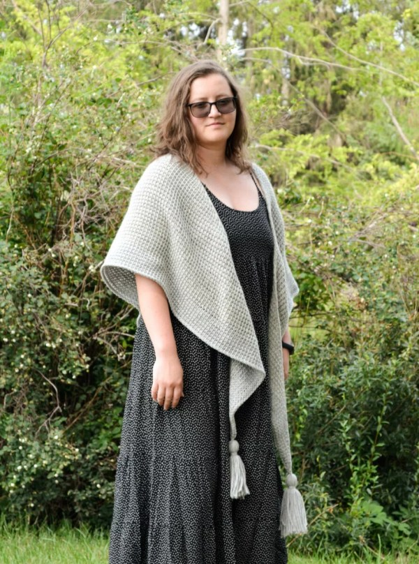 tunisian simple shawl 6
