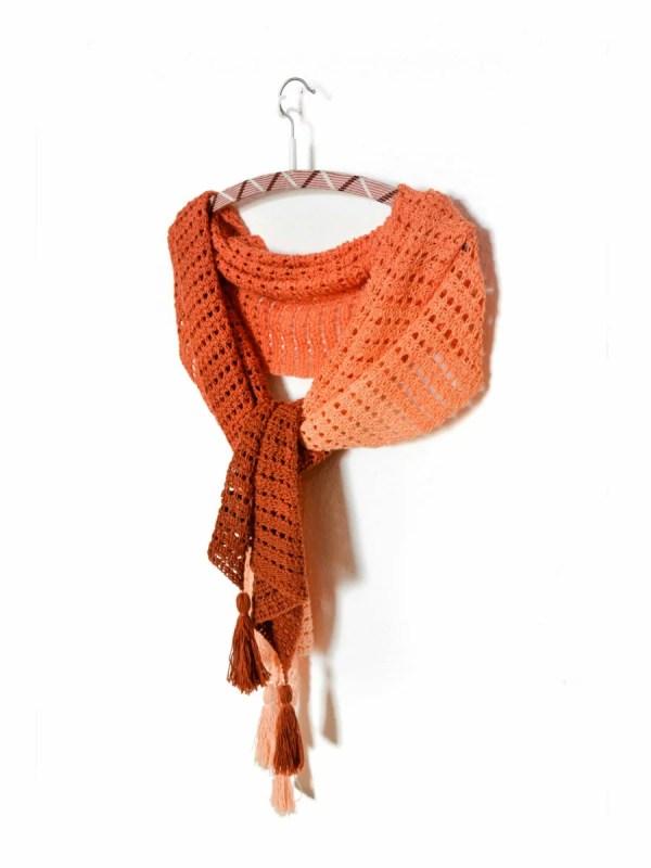 Imperial topaz wrap - easy tunisian crochet pattern