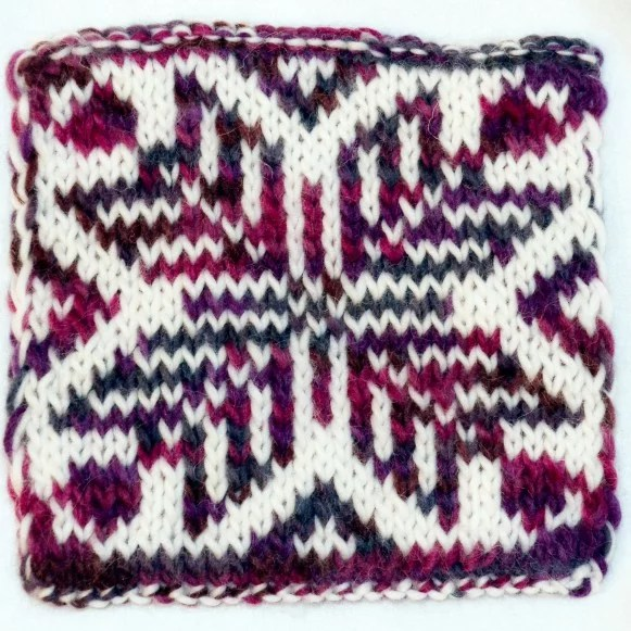 Double-knitting pattern created in Stitch Fiddle - face 2