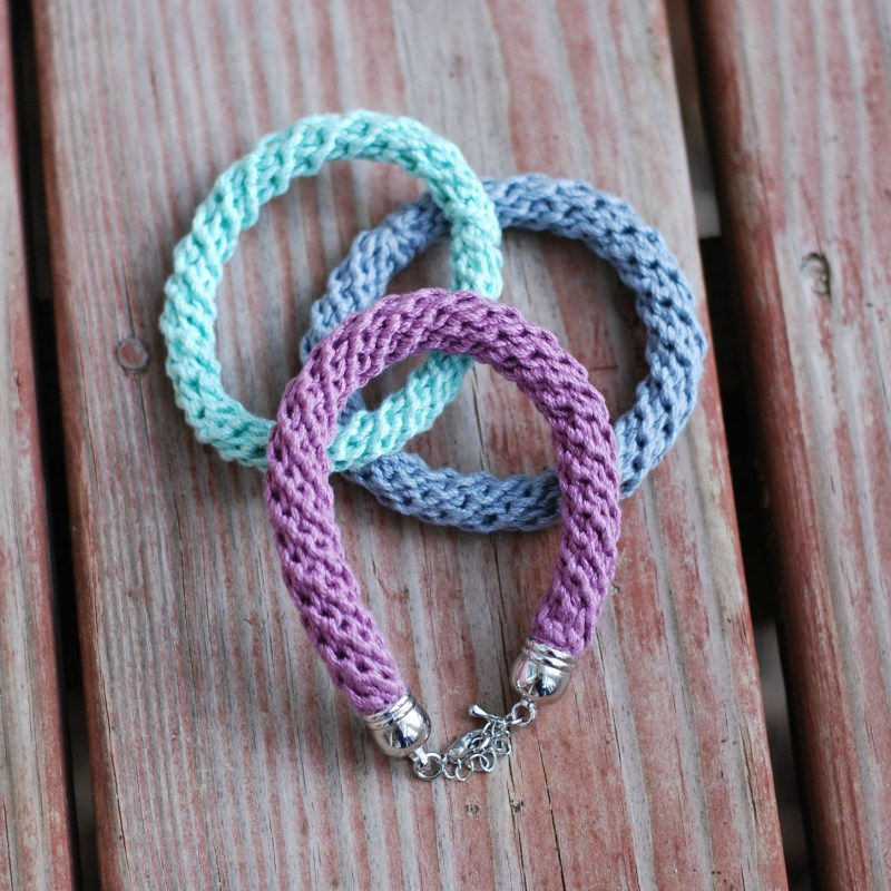 Chunky Crochet Cord Bracelet