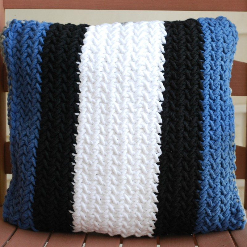 Knit Herringbone Throw Pillow
