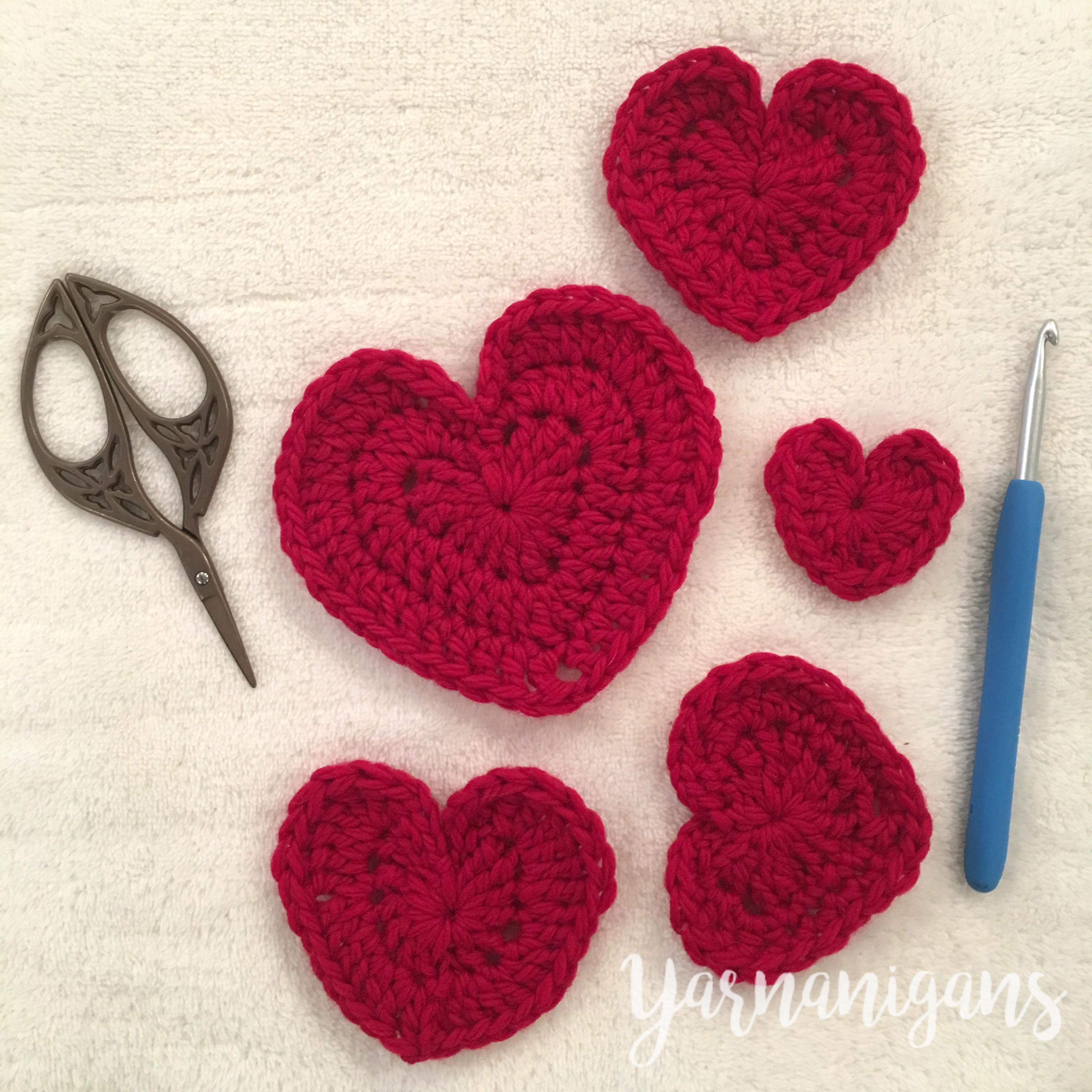 Felted Crochet Hearts Free Crochet Pattern Yarnanigans