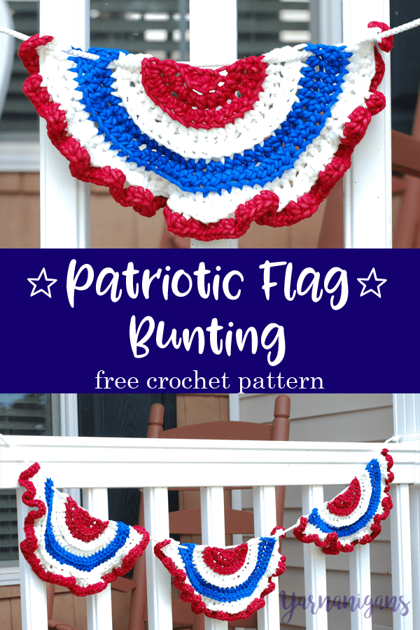 Bernat Maker Outdoor Patriotic Flag Bunting Free Crochet Pattern