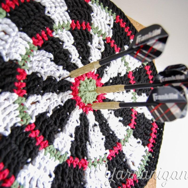 Crochet a Dartboard Mandala