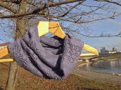 """Fifty shades of violet"" Cowl - Drops baby Alpaca Silk"