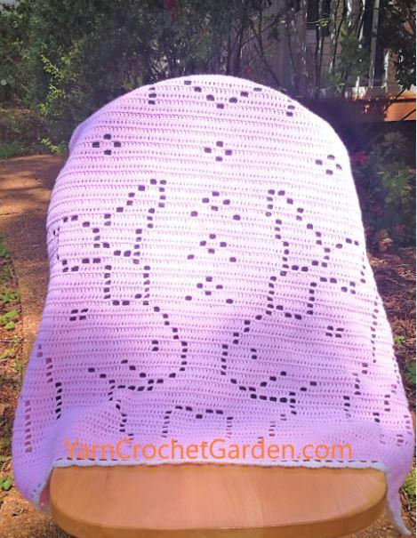 Crochet Blanket Pattern Bear Koala Filet Adult Teenager Kids ... | 605x469