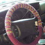 Knitted Steering Wheel Cover Yarn Thread Expressions
