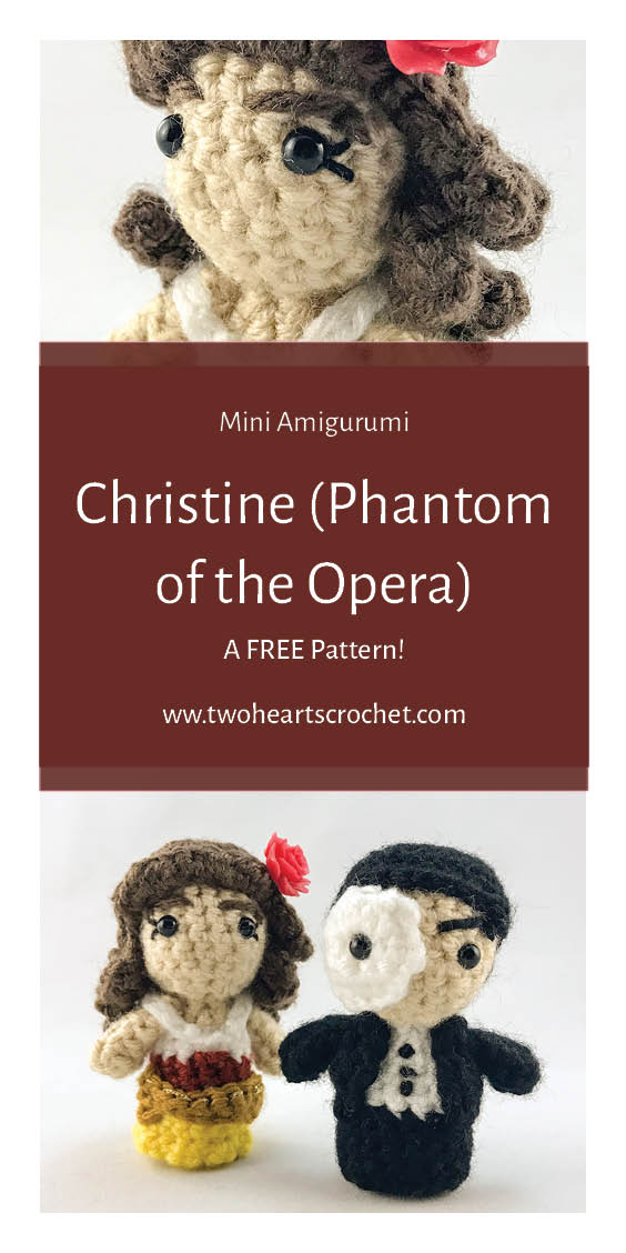 Crochet Phantom of the Opera Dolls Christine Mini Amigurumi