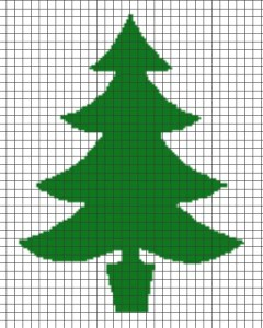 Christmas Tree – (Chart/Graph AND Row-by-Row Written Instructions) – 01