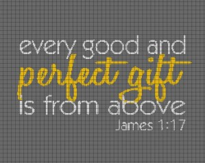 Bible Verse (Perfect Gift) – (Chart/Graph AND Row-by-Row Written Instructions)