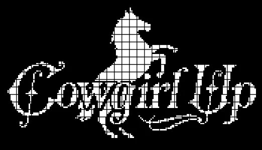 Cowgirl Up Chartgraph And Row By Row Written Instructions