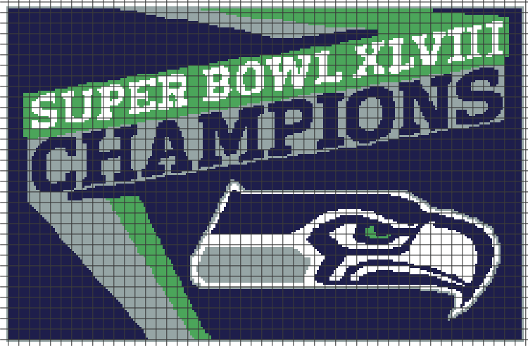 Seattle Seahawks Chartgraph And Row By Row Written