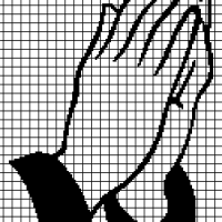 Praying Hands (Chart/Graph AND Row-by-Row Written Crochet Instructions) - 01